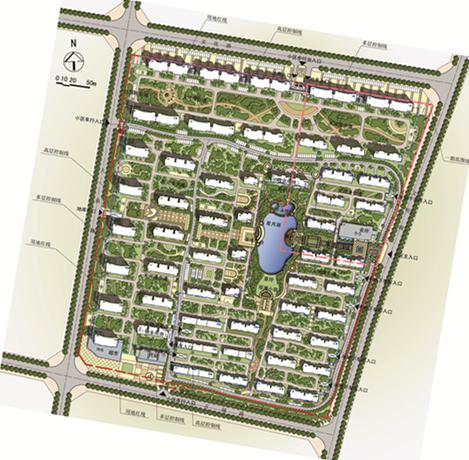 郯城星空喜园居住区规划总平面图