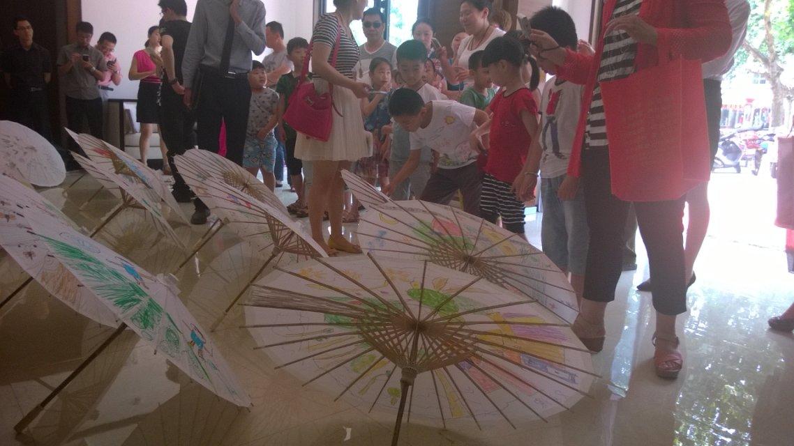 微山喜园油纸伞手绘活动